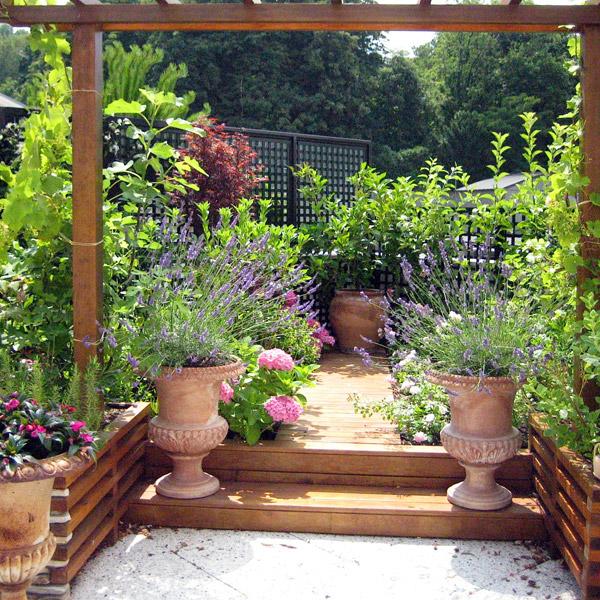 Une terrasse aux fragrances irrésistibles